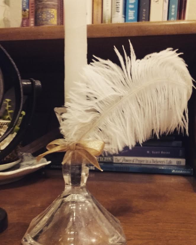 Feather Candlestick Holder