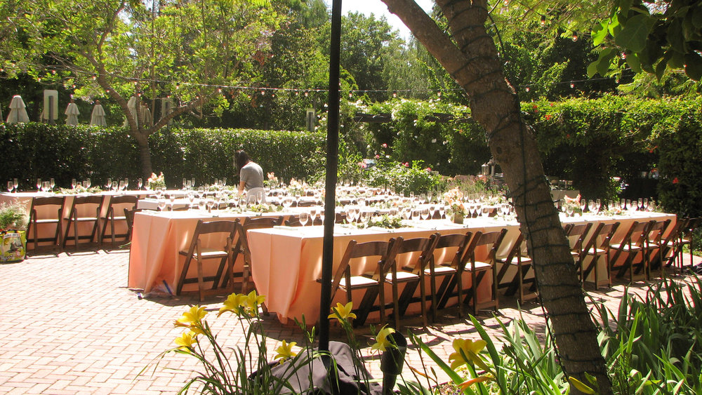 Reception tables (Sunset Patio).