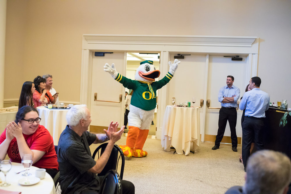 Perfectly Planned Moments Eugene Oregon Wedding Planner University of Oregon Duck Mascot.jpg