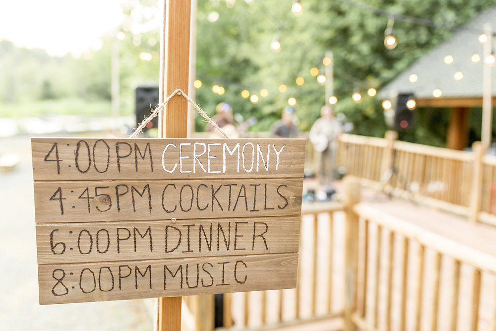 Washington Wedding Planner Coordinator Cabin Creek Lodge Detail Shots Perfectly Planned Moments Whistling Dixie Photography Itinerary Sign.jpg