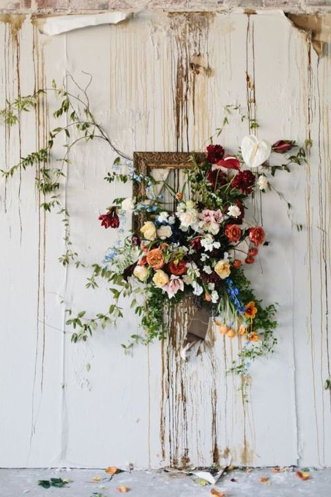 Boho Rustic Photobooth Backdrop Flowers Picture Frame.jpg