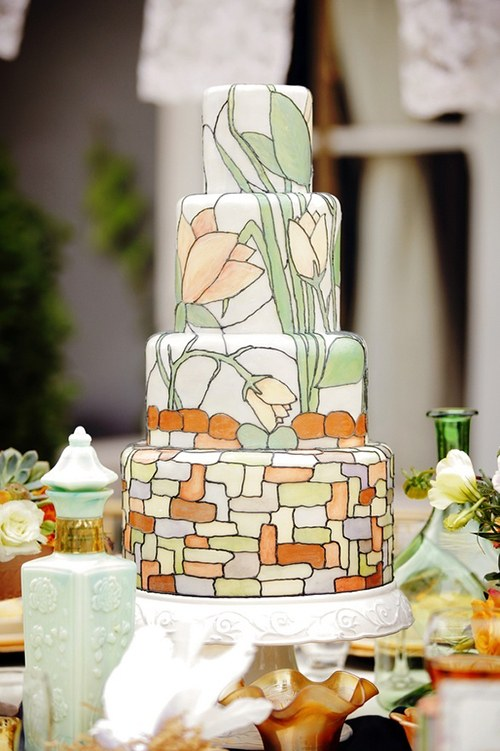 Unique Stained Glass Wedding Cake.jpg