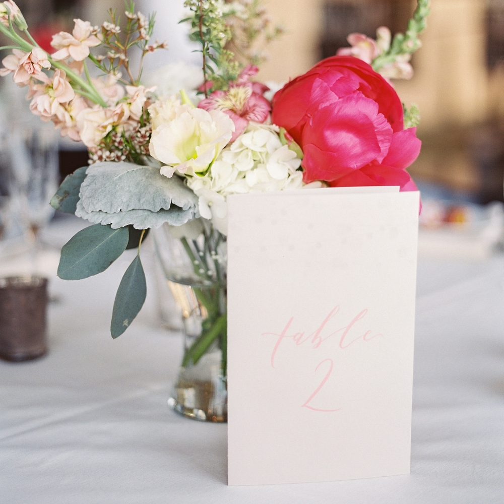 Olivia and Richard table numbers