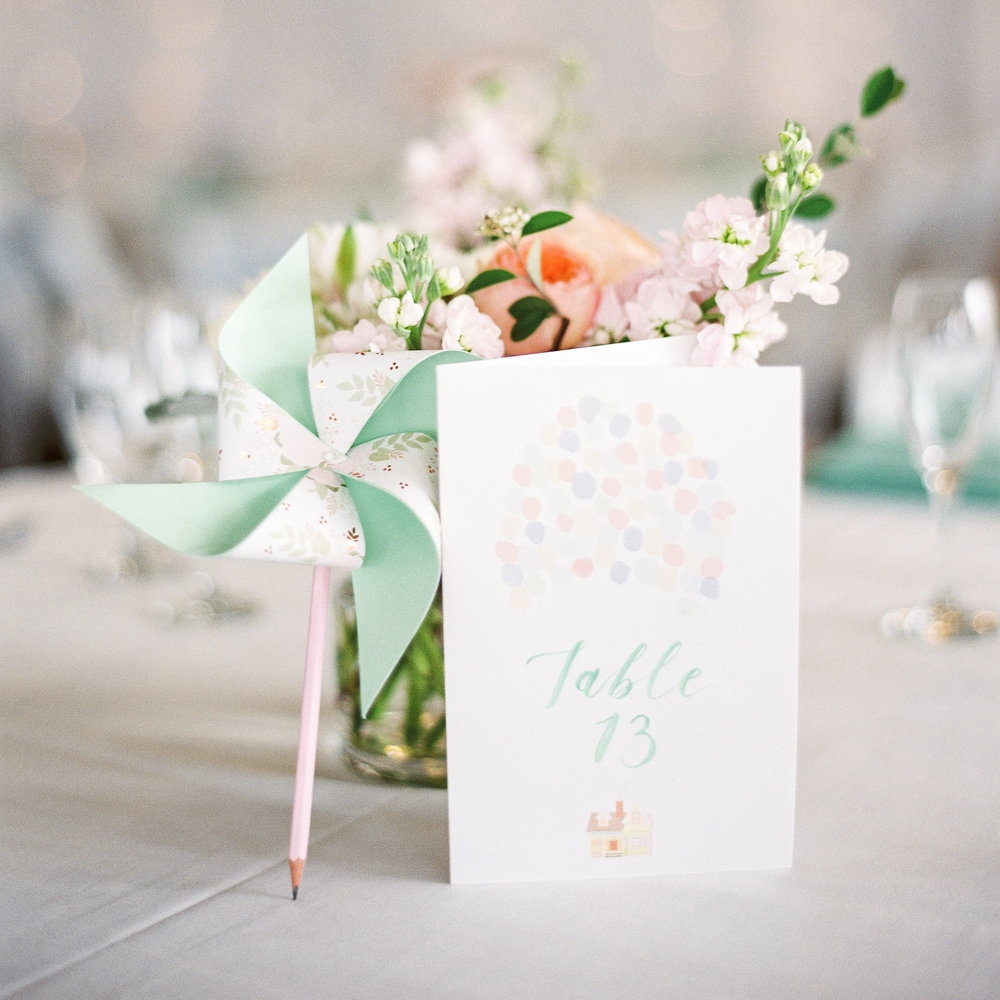 Up-inspired Table Numbers