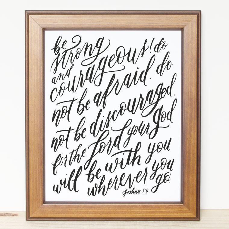 Bible Verse Print - Joshua 1:9