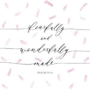 Bible Verse Print - Psalm 139:14