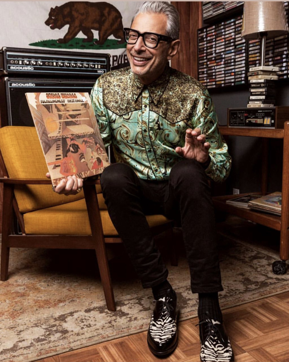 Photo shoot with Jeff Goldblum for Q Magazine UK.