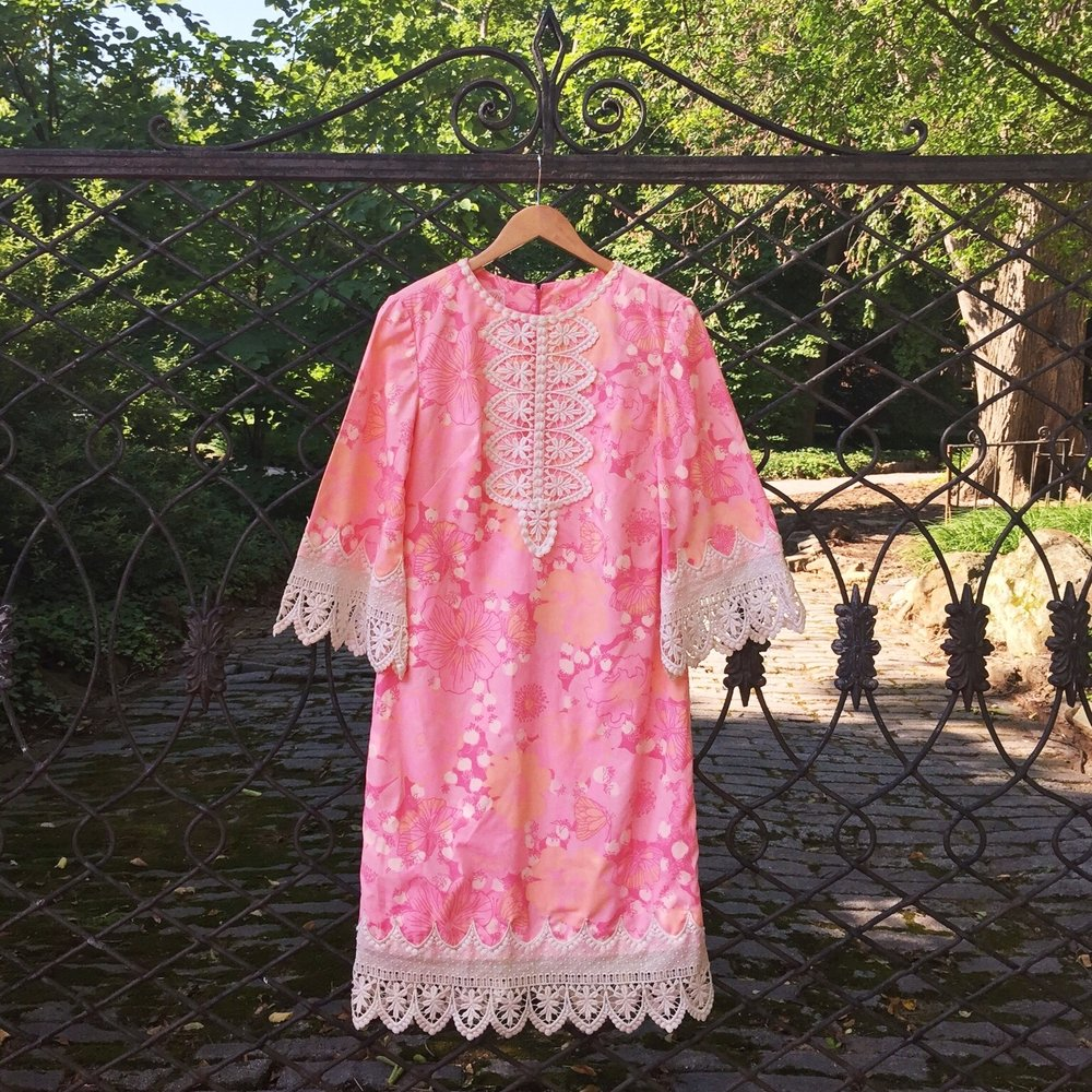 Vintage Lilly Pulitzer dress- perfect for croquet.