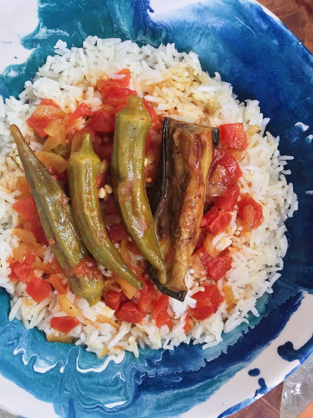 Persian Eggplant and Okra Stew - (Khoresh-e Bademjan / Bamieh)