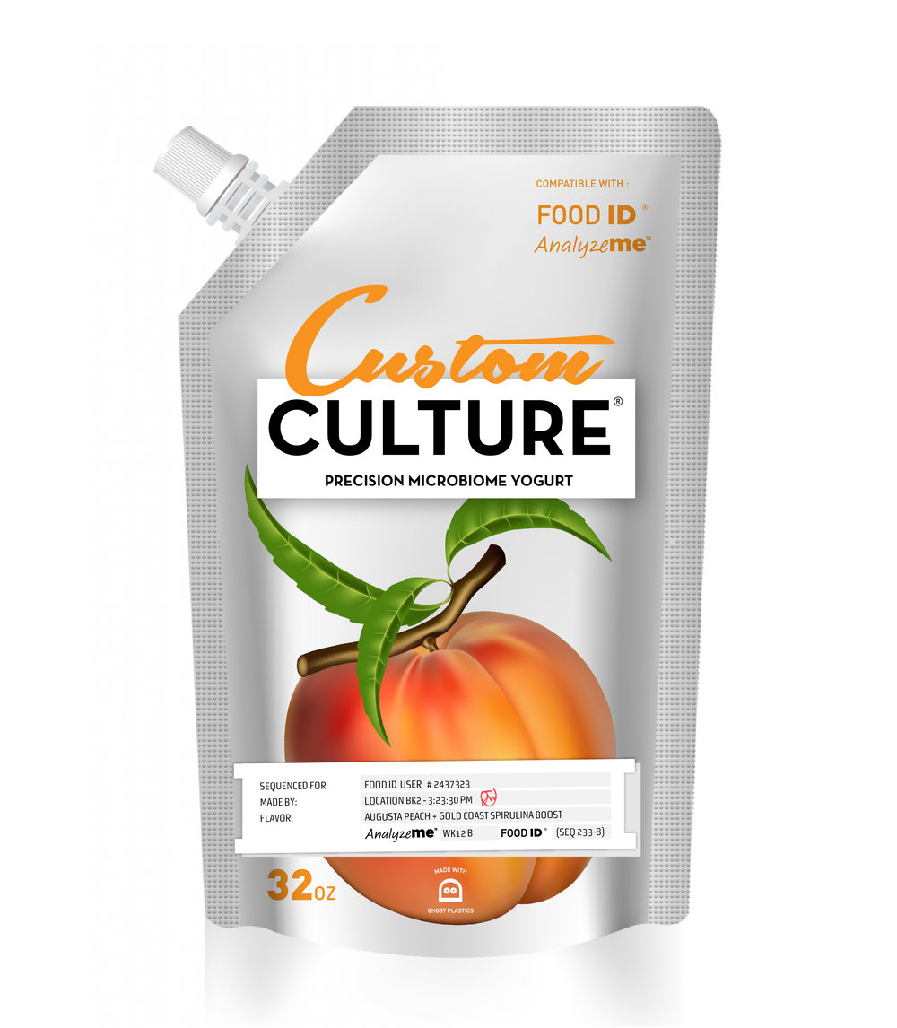 Custom Culture    Custom Culture is a line of synthesized yogurts, tailor-made just for you. Not only are they creamy and delicious, they're specifically customized to work with your unique microbiome to provide a wide spectrum of health benefits.