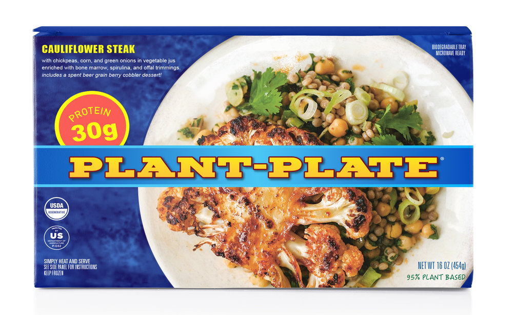 Plant Plate    Plant Plate is the heartiest, most convenient way to fill up after a long day. No appetite is any match for what Plant Plate has to offer. Packed with 30g of plant based protein, Plant Plate never lets you down and always leaves you satisfied.