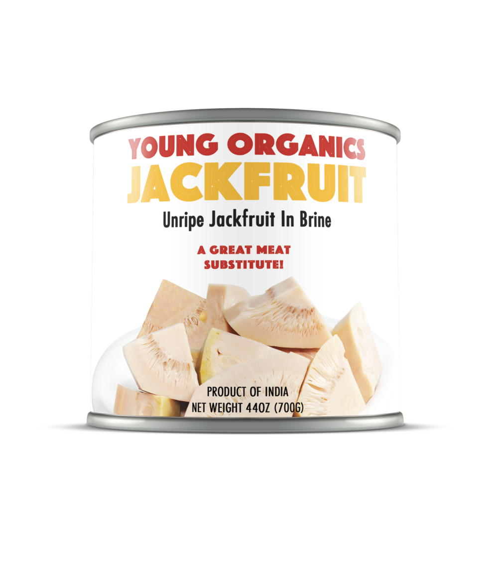 Young Organics     Unripe Jackfruit is a hidden treasure from Asia--but hopefully not for long--that's been a go-to meat stand-in for vegetarians and even meat eaters looking for something healthier without compromising on taste.