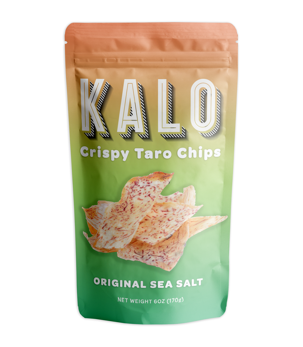 Kalo    A delicious crispy snack that supports biodiversity (it's one of the Rediscovered 25) and is highly nutritious with a good dose of nutrients. Native to SE Asia & India, but popular in Hawaii, this hairy and rough looking cousin of the potato is a great alternative to highly processed potato chips.