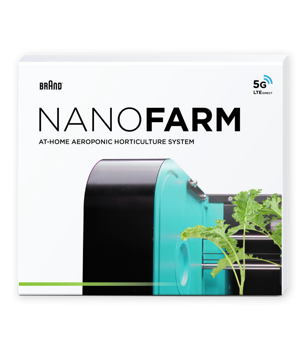 NanoFarm    With NanoFarm, fresh fruit and vegetables are always at your fingertips. Our miniature, kitchen countertop farming containers allow you to aeroponically grow your own produce at a rapid pace so that you're never without today's most popular farm-fresh items.