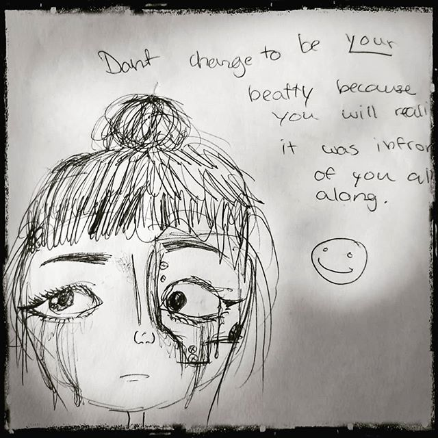Man it really amazes me how incredibly talented Dahlia is at drawing.. And then she always has something profound to say with it.. Im very proud.