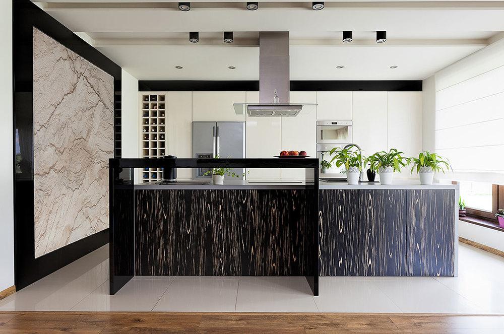 Cocinas integrales cocinas integrales en guadalajara for Marmol blanco con vetas negras