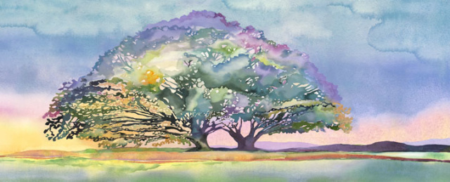 Giving Tree Panoramic Gicle'e Print Starting at $150