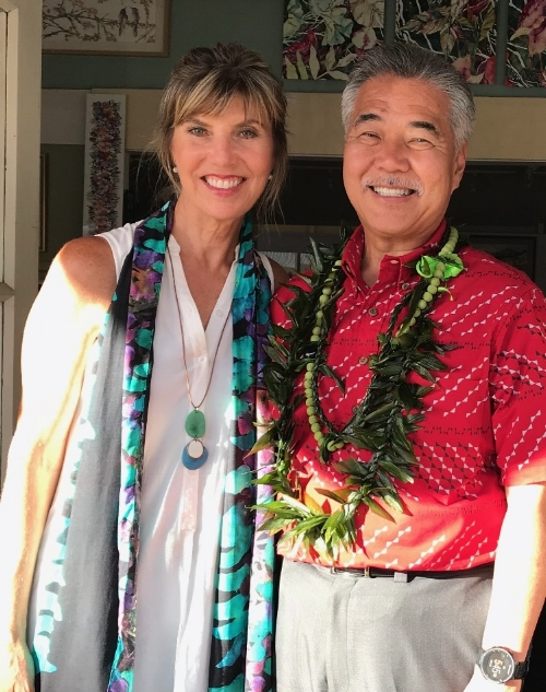 Sherri with Governor Ige, July 2018