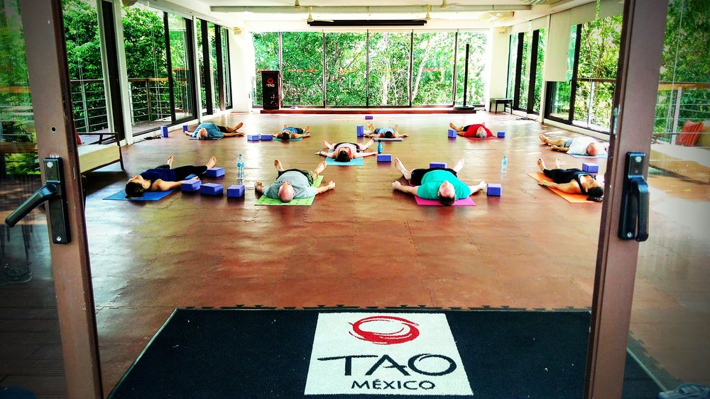 It was my last class with you today (at TAO Wellness Center, Akumal). Thank you again for a brilliant four weeks of yoga! I have loved your guidance and ability to push us that little bit more each time, sometimes without us always realising it. It's been perfect balance of soft and hard, swift and slow, yin and yang. I'll miss you and your classes. Thanks for everything. - Sam Bevington, UK