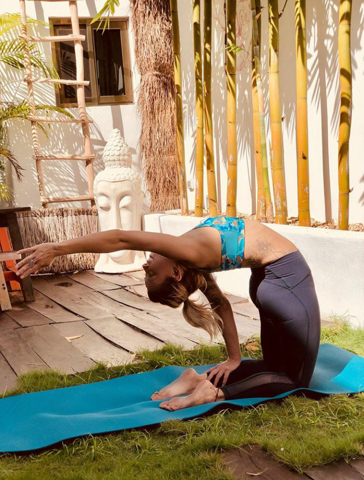"""""""A little reach in gratitude to the accomplishments this morning. Thank you Ricky for coaching me into this new posture in our morning routine"""" - Branden Elde, kite-surfer and 200-hr yoga teacher, Alaska, USA."""