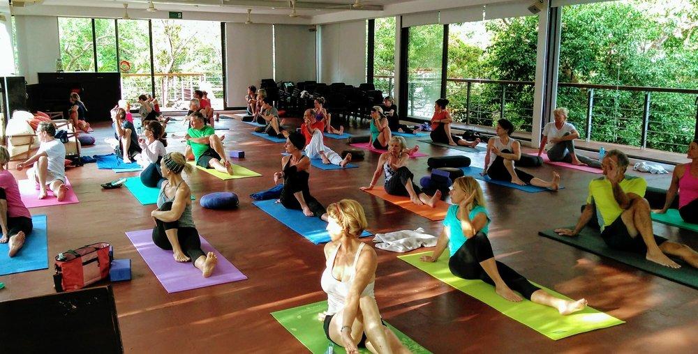 Studio Yoga Class at TAO Wellness Center Akumal, 2017