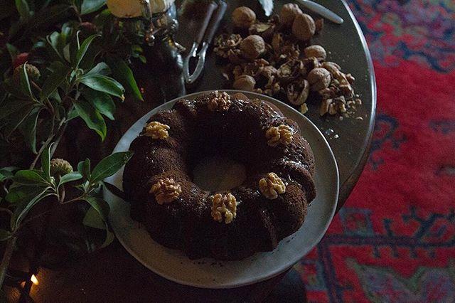Mimi's famous walnut rum cake with #lensandlarder.
