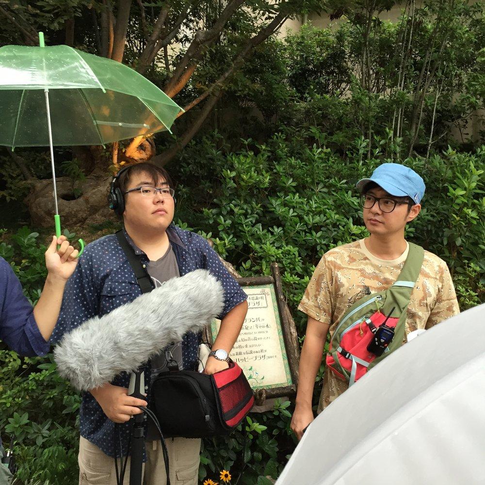 早速日韓共同制作中の録音の杉本崇志とベク・ジェホ監督