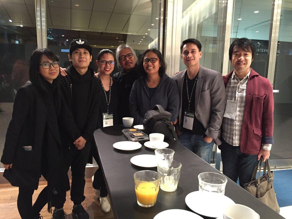 Pamela Reyes, Mikhail Red, Liza Dino-Seguerra, Lav Diaz, Hazel Orencio, Arnold Cruz Reyes, and me