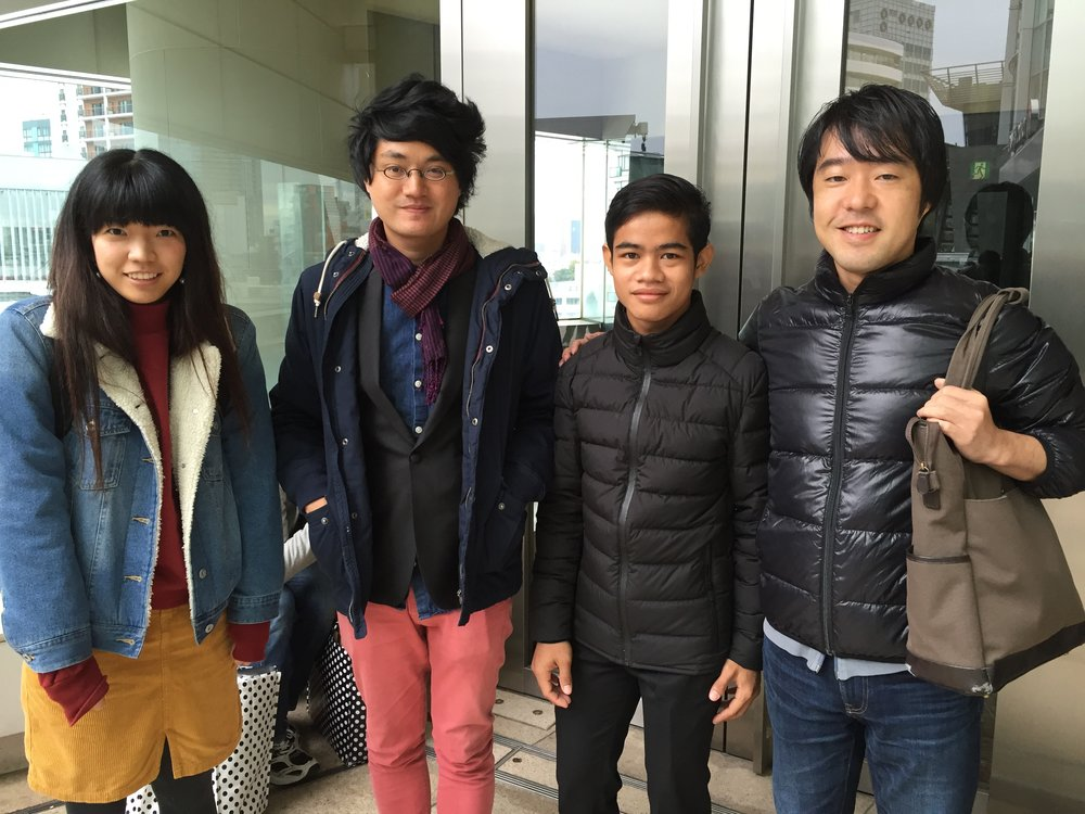 Akiyo Fujimura, Davy Chou, Khmeng Peal Komsoth, and me