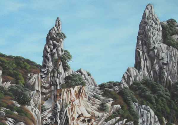Light study series Untitled III   250mm x 250mm   Pastel on paper   2014