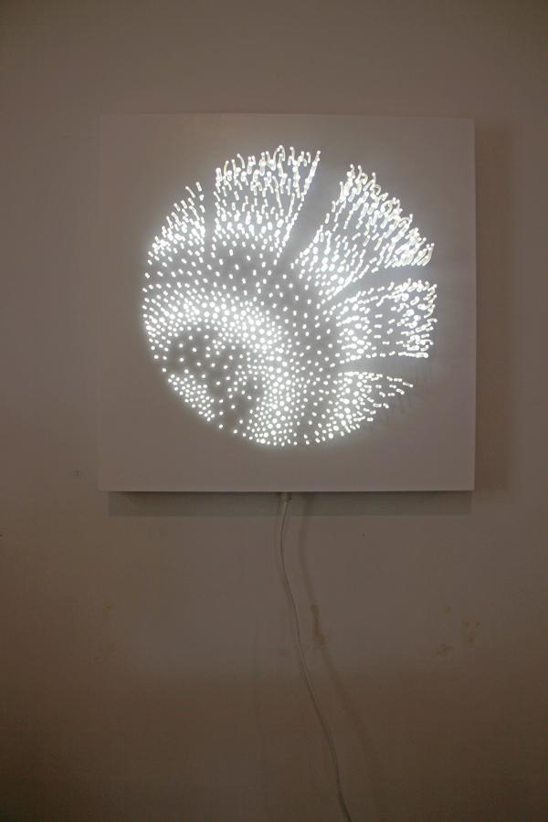 Light study series   Untitled I   500mm x 500mm   Pastel on paper   2014   $1200 (framed)   SOLD