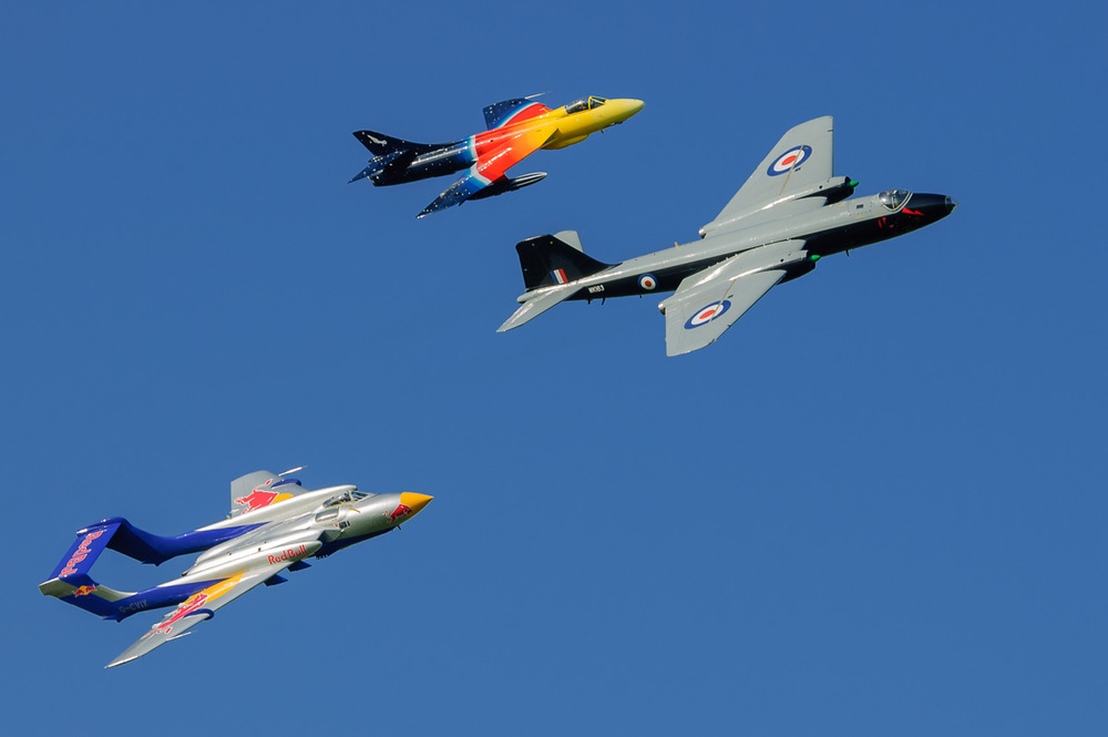 Canberra, Sea Vixen and Hunter
