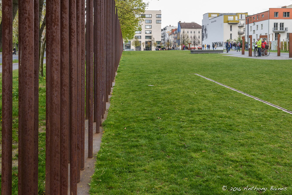 Mauerpark: the line of the outer wall and the death strip