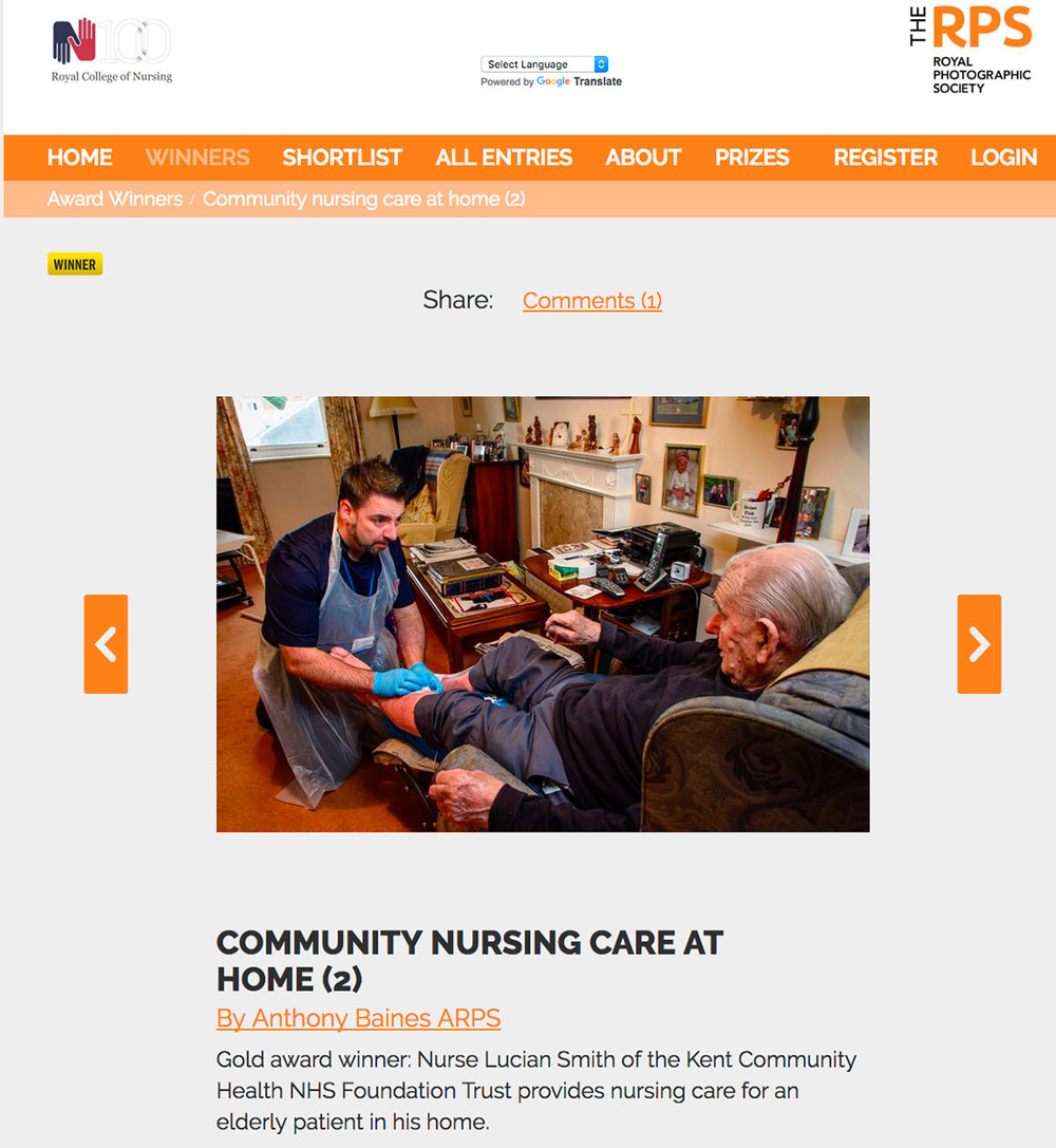 Screenshot of the RCN Care on Camera results page