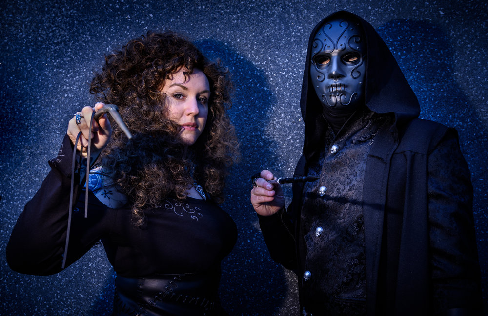 Bellatrix Le Strange and Masked Death Eater