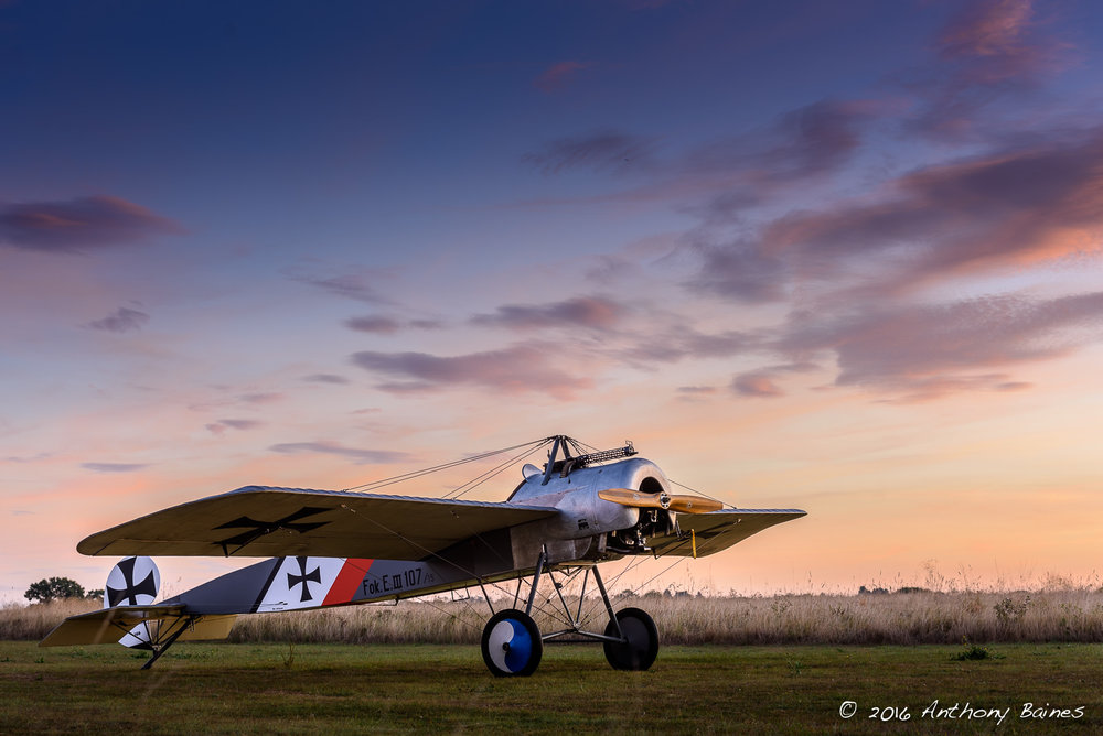 Fokker Eindekker at dawn