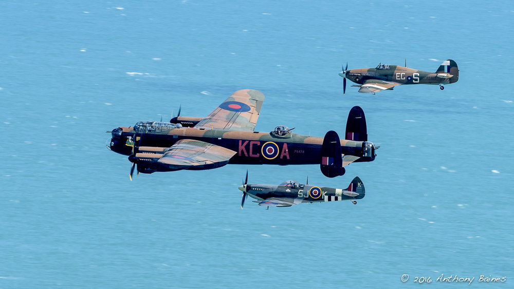 The Battle of Briatin Memorial Flight over the English Channel