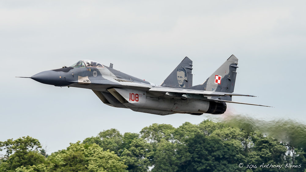 Polish Mig-29A Fulcrum 108 takes off