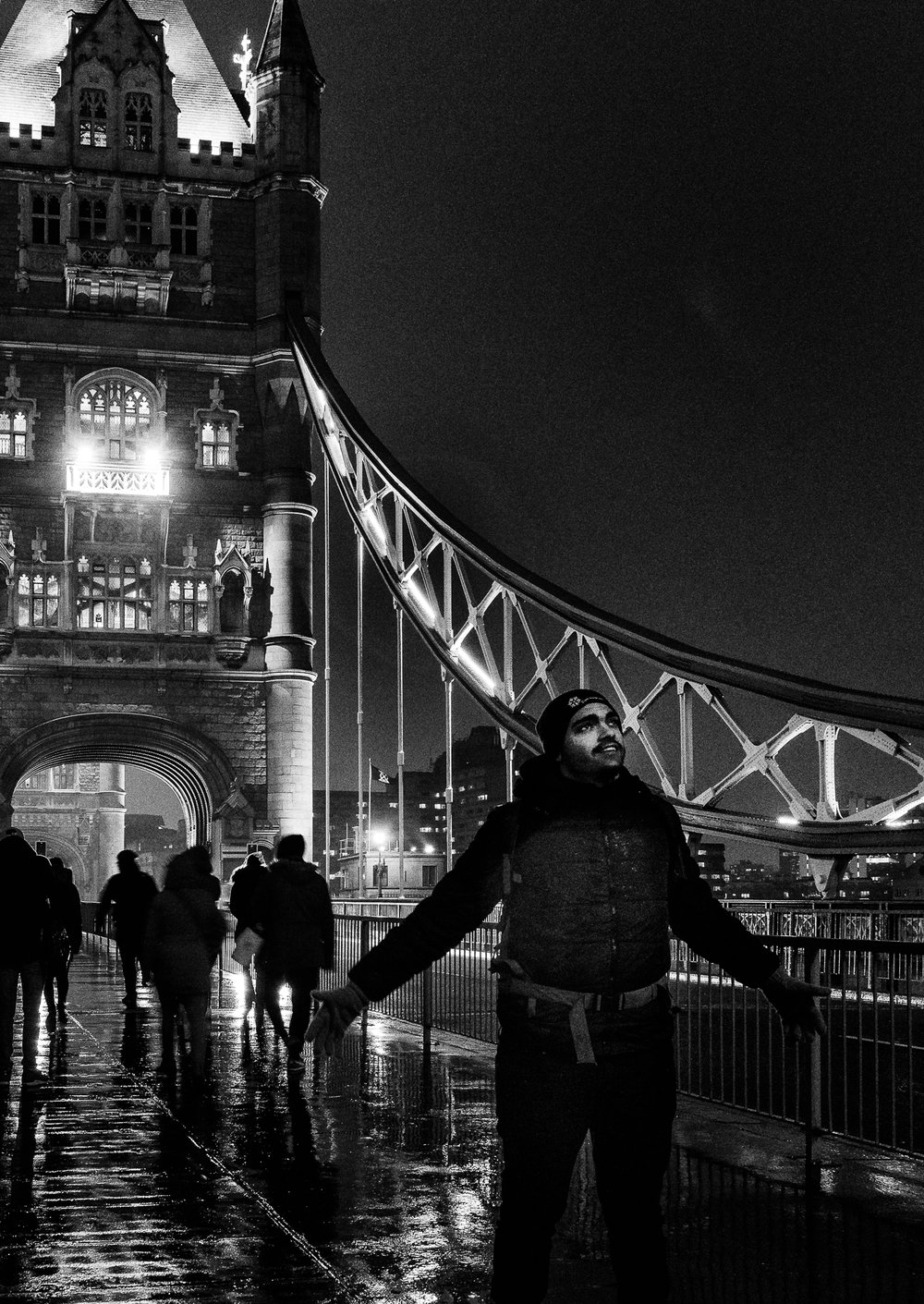 Tower Bridge. ISO3200 as described in text, processed through SilverFX.