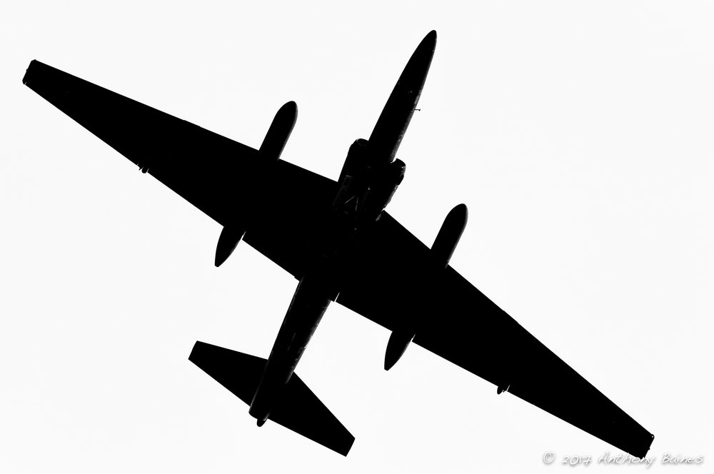 U-2 overhead silhouette.