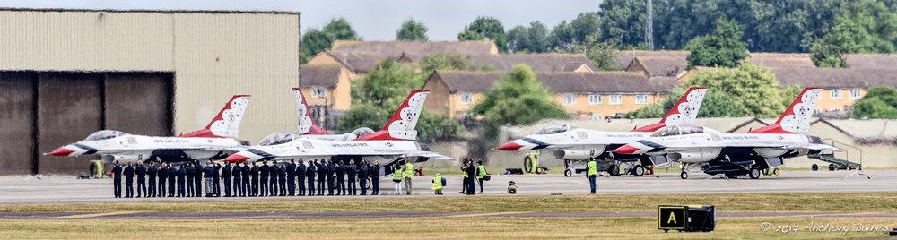 Thunderbirds on parade