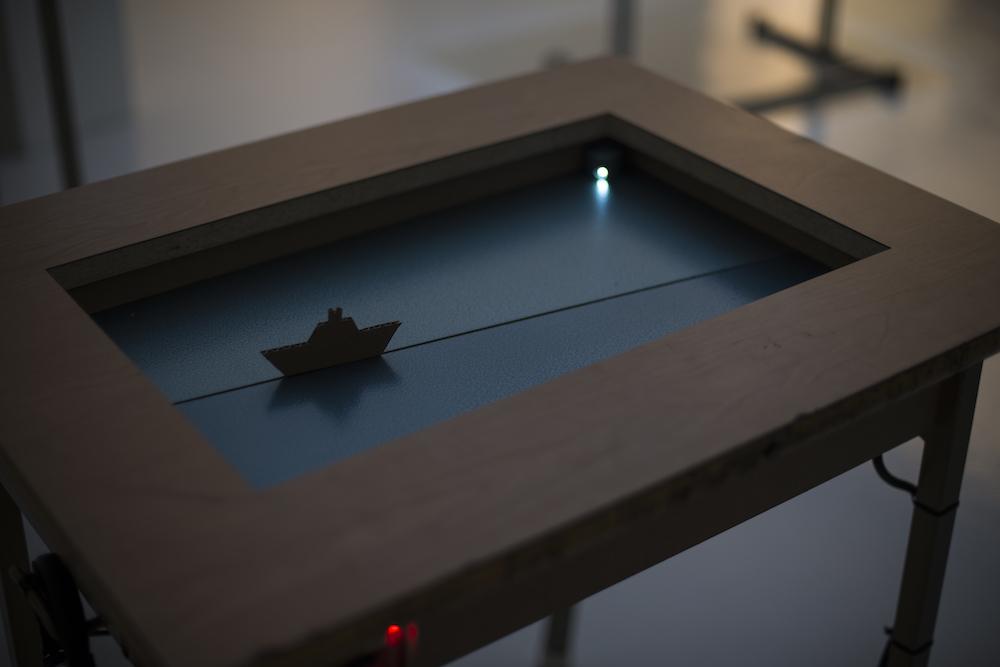 Paper vessel in motion