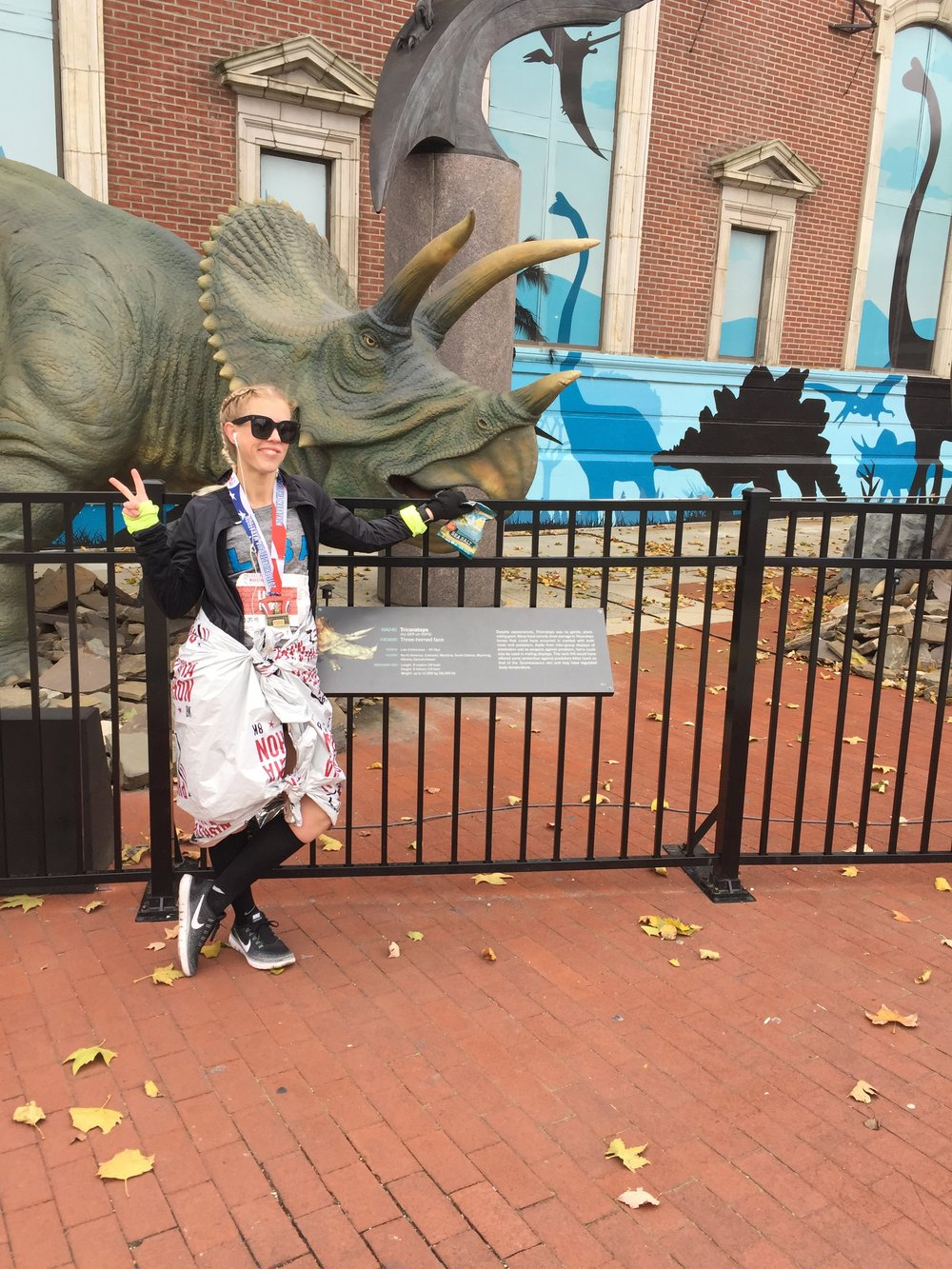 just chilling with some dinosaurs in Philly