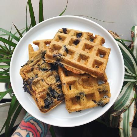 gluten free vegan protein waffles