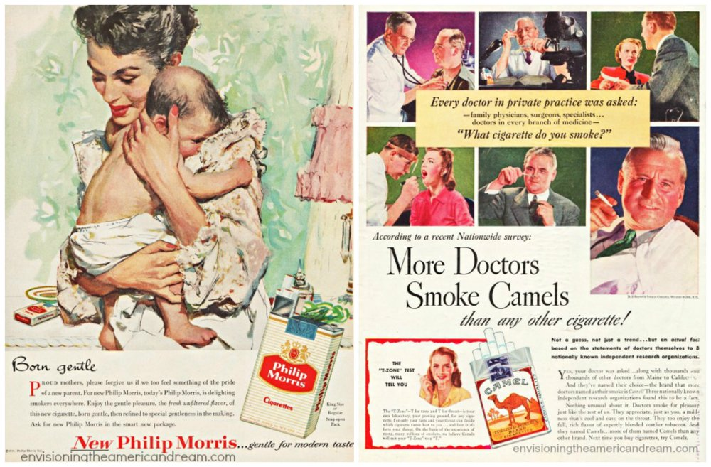 How crazy is it to see a mother and baby and a pack of cigarettes?