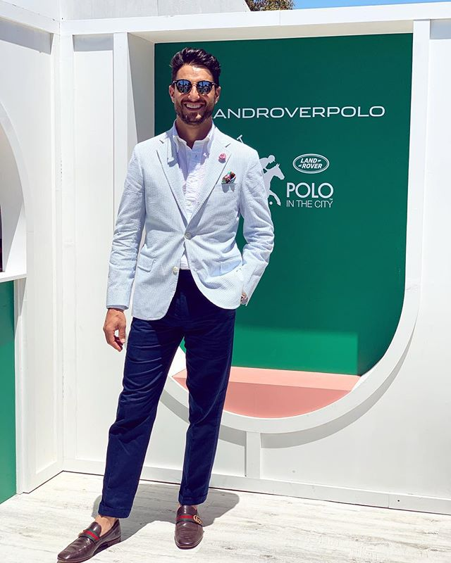 Kicking off summer at @polointhecity with @melbcitylandrover. As always, kitted up by @brooksbrothers.australia and feeling sharp!