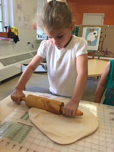 First baking day of this school year for the Mäusegruppe written by Petra, a German Pre-K teacher