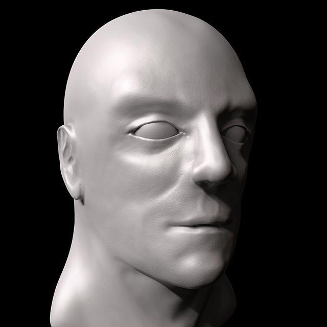 Anatomy Face Study #1. Working on my weaknesses. Progress not perfection.  @zbrushatpixologic