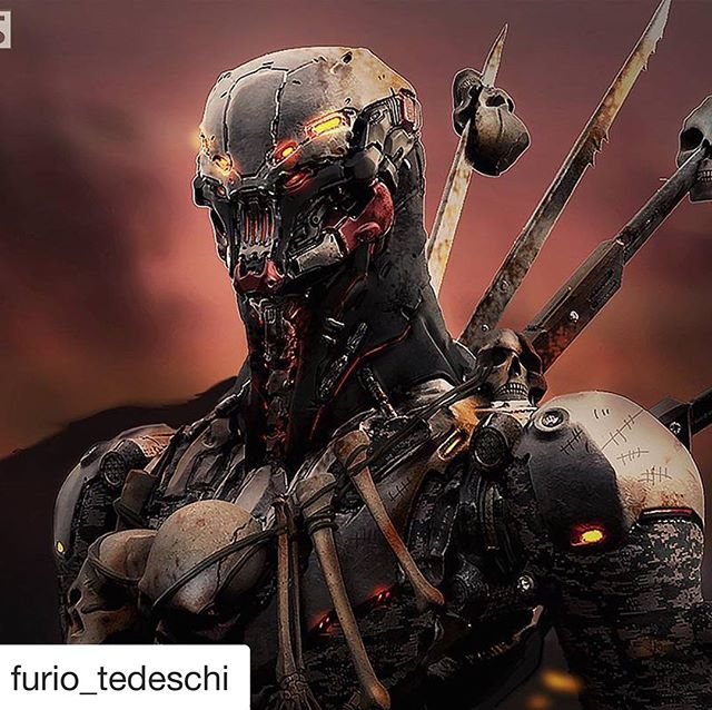 2016 ZBrush Summit hard surface sculpt off winning piece from @furio_tedeschi Incredible for such little time they have to complete. Give this guy a follow.  #ikolbust #furiotedeschi #characterdesign #repost #zbrush #zbrushcentral #zbrushsculpt