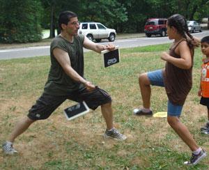 Citizen Teacher Jim Hainis teaching karate